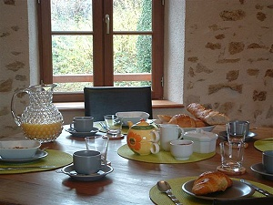 Image showing breakfast at Pauls Barn in France